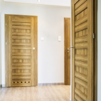 Drzwi DRE Fosca 5 dąb polski 3d tuleje wentylacyjne. Lokalizacja Zalesie
