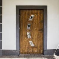 Drzwi wejściowe MAR-TOM MK 32 20C złoty dąb . Lokalizacja Zalesie